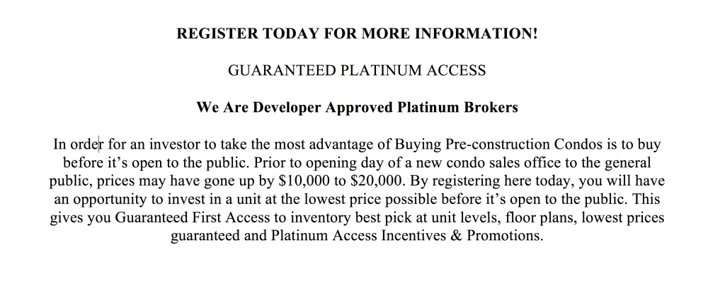 Pre-construction Condos Incentives